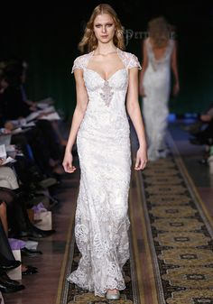 I like this design  minus  the flower on the back.   Claire Pettibone | Mystere | Rock 'n' Roll Bride Collection