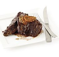 Sear-Roasted Sirloin Tip Steaks with Café de Paris Butter - this flavored butter recipe sounds fantastic!!!