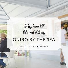 Top spot! Oniro by the Sea is an original chillout bar with spectacular views of the Sea Caves. You can find delicious bites original cocktails and refreshing ideas. This place comes with the CVR seal of approval! #coralbay #paphos #Mediterranean #DiscoverCyprus  #beachholidays #cyprus #beachbar #seaviews