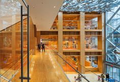 Newman Architects' Slover Library blends old and new in historic renovation slover library mezzanine – Inhabitat - Green Design, Innovation, Architecture, Green Building