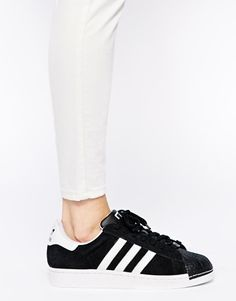 new arrivals aa7f2 8c822 Enlarge Adidas Superstar II Toe Cap Black Sneakers Adidas Superstar  Schwarz, Baskets, Asos,