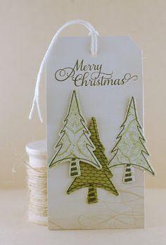 The Mango Boys and Me: Christmas Tags Verve Tree Christmas Paper Crafts, Homemade Christmas Cards, Christmas Gift Wrapping, Christmas Tag, Handmade Gift Tags, Greeting Cards Handmade, Card Tags, Door Tags, Paper Tags
