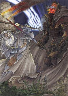 Gandalf vs Nazgul by Meleager on DeviantArt