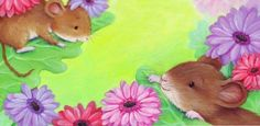 Cee Biscoe - mice_peep_flowers.jpg #mouse