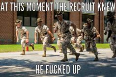 Marine Corps humor More.boy ain't that the truth. Marine Memes, Marine Corps Humor, Us Marine Corps, Military Jokes, Army Humor, Military Life, Gun Humor, Military Beret, Military Weapons