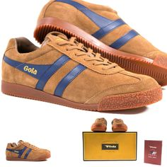 Gola Retro Sneakers Classic Suede Leather Vintage Kicks Athletic Trainer  Shoes