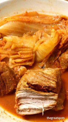 김치찜[kimchi jjim], Braised Kimchi Boil and boil the kimchi !!! Its sour and fermented kimchi taste will make you full of happyness. Like this  I put pork in it, then the broth became thicker and deeper. One bowl of rice is not enough but you will need two bowls. Haha.... let's eat kimchi jjim today and release your stress.   Yummy Korean food ♡ Enjoy ~  #김치찜 #kimchijji.