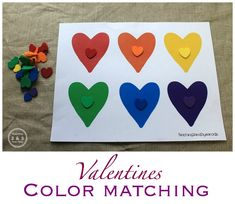 Valentines Counting and Sorting Activity with free printable from Teaching 2 and 3 Year Olds