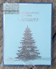 Stampin' Up! Winter Woods for Christmas Stamped Christmas Cards, Christmas Card Crafts, Homemade Christmas Cards, Stampin Up Christmas, Handmade Christmas, Christmas Holidays, Hand Made Greeting Cards, Making Greeting Cards, Some Cards