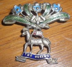 WW1 Military Sweetheart Brooch The Queens Regiment. in Collectables, Militaria, World War I (1914-1918)   eBay