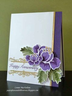 rosie posie: PTI, Paper Pleats and Ribbon Roses: Wedding Anniversary Cards, Wedding Cards, Happy Anniversary, Pretty Cards, Love Cards, Card Sketches, Copics, Birthday Cards, Birthday Images