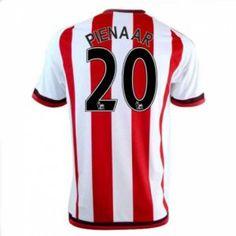 Sunderland AFC Home 16-17 Season Pienaar #20 Red Soccer Jersey [I327]
