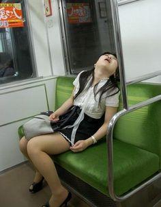 asleep Asian girl