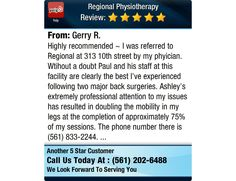 Highly recommended ~  I was referred to Regional at 313 10th street by my phyician. ...
