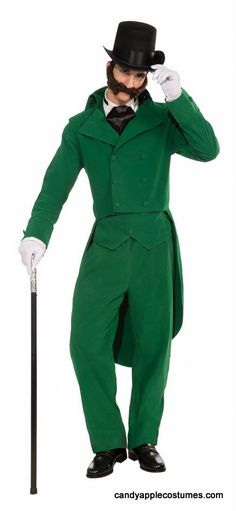 Adult Victorian Caroling Gentleman Costume - Candy Apple Costumes - Steampunk Costumes