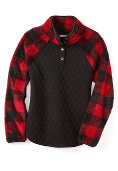 Buffalo Plaid Quilted Front Pullover-S - - Buffalo Plaid Quilted Front Pullover-S Source by mercarius Plaid Quilt, Buffalo Plaid, Get Dressed, Style Guides, Cool Outfits, Men Sweater, Pullover, Clothes For Women, My Style