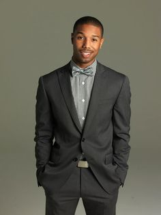 I love this suit, shirt & bow tie combo! This is a well styled man!