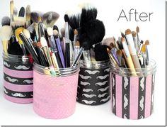 DIY! Create Makeup Brush Storage Using Talenti Jars