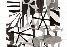 Raymond Saá - gouache collage on sewn paper Abstract Sculpture, Sculpture Art, Abstract Art, Abstract Pattern, Large Scale Art, Textile Fiber Art, Collage Art, Collage Ideas, Collage