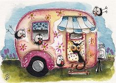 Woo hoo... Can we come... Can we, can we... the crows are so excited... Stressie Cat not so much! Enjoy!
