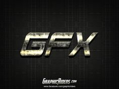 Action style – GFX (free photoshop layer style, text effect, free psd file) #graphicriders