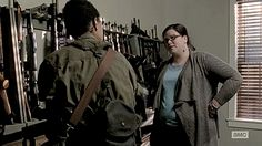 Sasha checks her gun from Olivia, at the crack of dawn. She is so tired of memories, including other people's,... Please read more and join in at: http://allaboutthetea.com/2015/03/08/the-walking-dead-recap-s5e13/