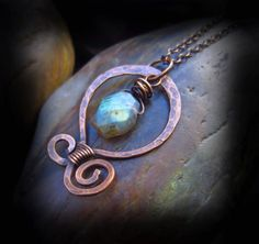Wire Wrapped Handmade Jewelry Antiqued Copper by HopeCreations