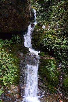 Beautiful waterfall during Ghorepani Poon Hill Trekking in Annapurna region, Nepal