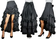 high low skirt sewing patterns | love all the cascading ruffles.
