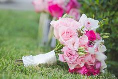 Fuchsia Pink and Pink Bridal Bouquet