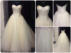 Stunning princess style gown with embellished bodice and organza skirt.
