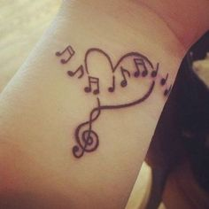 37 Melodic Music Note Tattoo Ideas