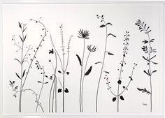 black and white wildflower tattoo - Recherche Google