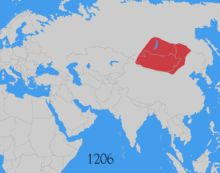 Gengis Khan — Evolution de l'empire Mongol - Empire scindé en 1294