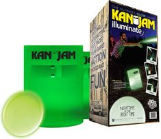 Kan Jam Illuminate Light-Up Game Set – Includes Two Light-Up Targets and One LED Light-up Disc – Play Day or Night – Features Portable Construction Outdoor Toys, Outdoor Games, Outdoor Play, Throwing Games, Jam Games, Flying Disc, Old And Teen, Tween Gifts, Play Day