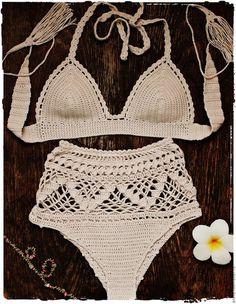 Fashion Illustration Sketches Dress, New Fashion Dress For Girl 2019 India but Dress Fashion Show Transparent Crochet Lingerie, Bikinis Crochet, Crochet Bra, Crochet Bikini Pattern, Mode Crochet, Crochet Bikini Top, Crochet Shorts, Crochet Woman, Crochet Clothes