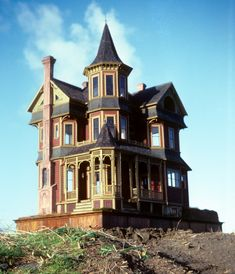 The Port Townsend, miniature house # was the second of the major houses we built in It was named for a Victorian seaport on the Quimper Peninsula in Washington State, a town whose archite… Victorian Architecture, Beautiful Architecture, Beautiful Buildings, Beautiful Homes, Boston Architecture, Old Buildings, Abandoned Buildings, Abandoned Places, Townsend Homes
