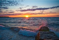 Sunset Long Island Sound, Cedar Beach, Mount Sinai, NY