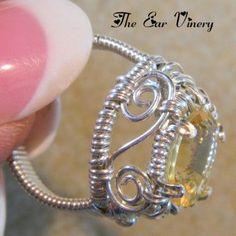 Swirl Citrine Ring | JewelryLessons.com