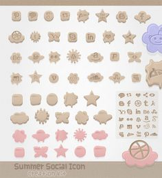 Freebie Social Media Icon Commercial Use by mycandythemes on Etsy