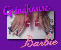 """Grindhouse Barbie"" 10D by BellaGemaNails"