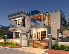 5 Experienced Clever Tips: Fence Planters Ideas aluminum fence ideas.Old Fence Photography modern fence indoor. House Front Design, Modern House Design, Fence Design, Style At Home, Bungalow Haus Design, House Plans Mansion, Latest House Designs, Duplex House, House Elevation