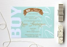 Mint and Gold Gender Reveal | Baby Shower | by Kori Clark for DIY Network