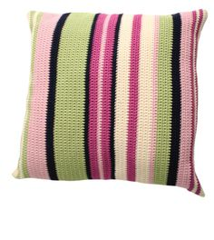 Crochet Cushion Pattern | Fun Stripes