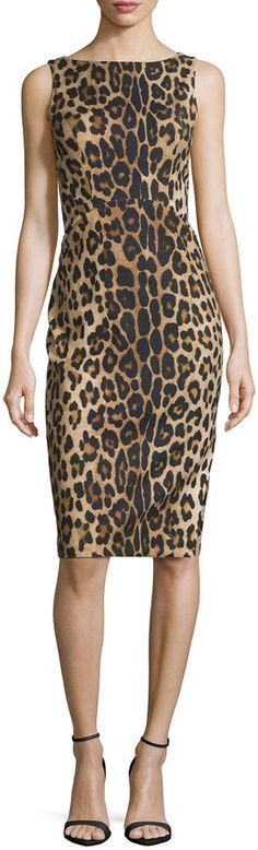 Altuzarra Shadow Leopard-Print Sheath Dress