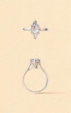 The Vega Setting. Naveya & Sloane engagement ring, made to order in Auckland, New Zealand. Engagement Ring Drawings, Gothic Engagement Ring, Engagement Ring Prices, Classic Engagement Rings, Gemstone Engagement Rings, Designer Engagement Rings, Gothic Wedding Rings, Gothic Rings, Ring Sketch