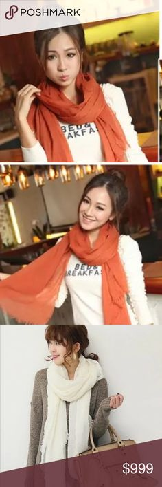 Orange Scarf Fashion Scarf! Lovely orange! Bright and gorgeous! Extra long for draping to your own liking . Accessories Scarves & Wraps