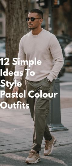 12 Simple Ideas To Style Pastel Colour Outfits Mens Fashion Blog, Latest Mens Fashion, Men's Fashion, Men Dress Up, Pastel Outfit, Dapper Men, How To Wear Scarves, Sharp Dressed Man, Men's Grooming