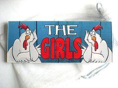 The Girls Hens ACRYLIC SIGN Plaque chicken coop run egg bantam house garden door in Home, Furniture & DIY, Pet Supplies | eBay