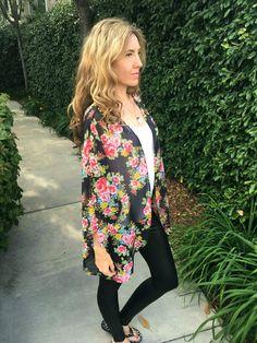 Multicolor Chain Paisley Print Sheer Kimono, Flowy Kimono Cardigan ...